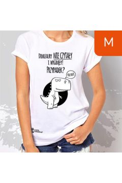 TanioKsiążkowa Koszulka damska, rozmiar M - Dinozaury nie czytały i wyginęły... Przypadek?
