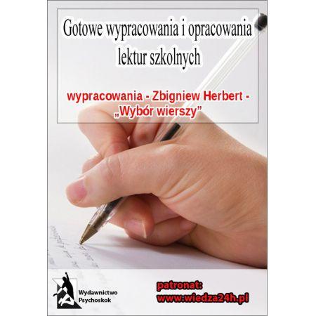 Wypracowania Zbigniew Herbert Wybór Wierszy