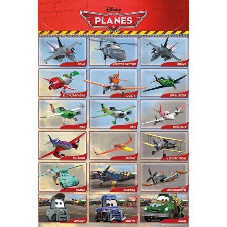 Samoloty Planes Bohaterowie Plakat