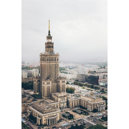 Warszawa Pałac Kultury I Nauki Plakat Premium
