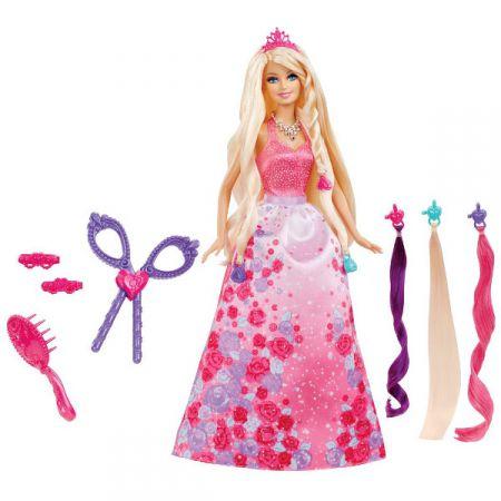 Lalka Barbie Bajeczne Fryzury Księżniczki Bcp41