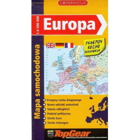 Europa Mapa Samochodowa Ksiazka W Ksiegarni Taniaksiazka Pl