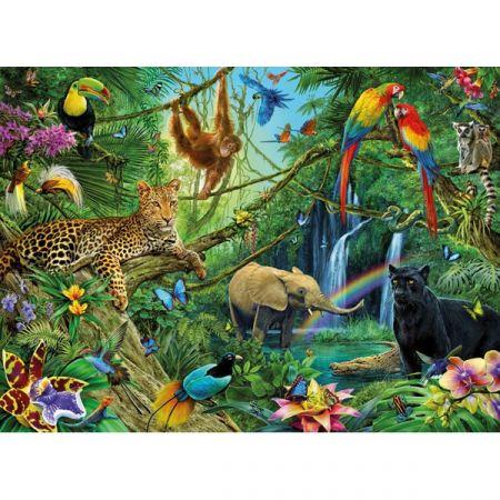 Puzzle XXL Zwierzęta w dżungli 200 Ravensburger w TaniaKsiazka.pl