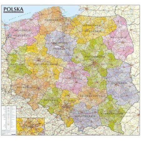 Polska Mapa Administracyjno Samochodowa 1 570 000 Tuba W