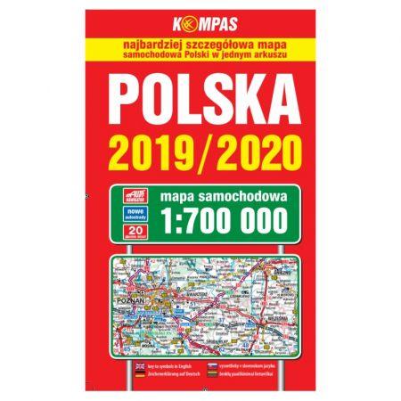 Polska Mapa Samochodowa 2019 2020 1 700 000 Ksiazka W Ksiegarni