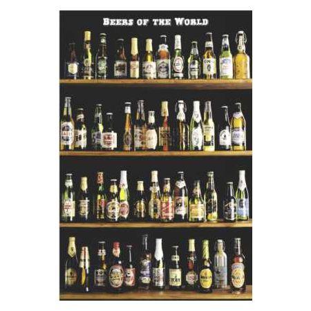 Półki Piwa Piwo Ze świata Plakat