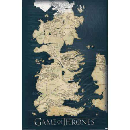 Gra O Tron Mapa Królestw Plakat 61x91 5 Cm W Sklepie Taniaksiazka Pl