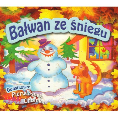 Bałwan Ze śniegu Pierwiosnek Choinka Cd