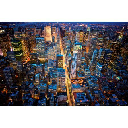 Nowy Jork Miasto Nocą Plakat