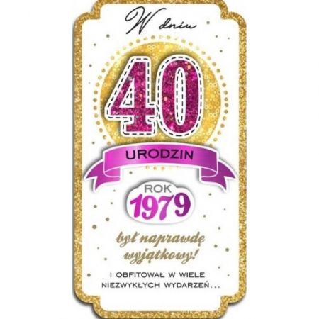 Karnet 40 Urodziny Pm 091